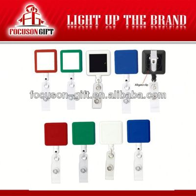 Plastic Square shape badge holder strap