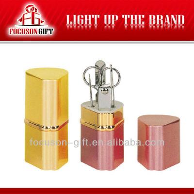 Wholesale Promotion poduct aluminum tube manicure tool sets