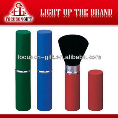 Promotional retractable cosmetic brushes