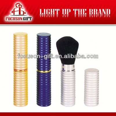 Promotional retractable cosmetic brush set