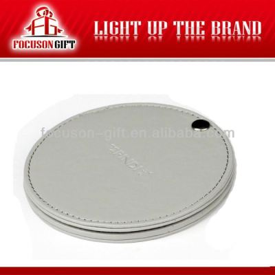 Promotion PU Leather cosmetic mirror