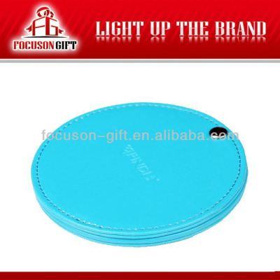 Promotion PU Leather cheap small cosmetic mirror