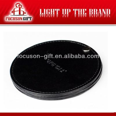 Promotion PU Leather plastic cosmetic mirror