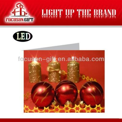 Christmas Gift Custom Printing led greeting card