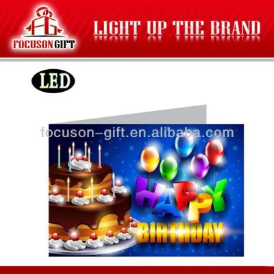 Full Color Flashing Gift led send card