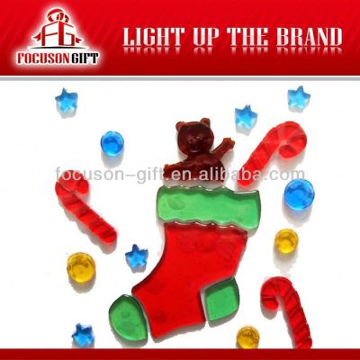 Christmas windows Jelly cartoon gel stickers