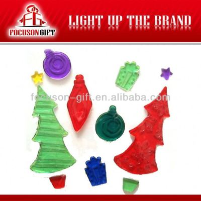 Christmas windows Jelly decoration gel sticker