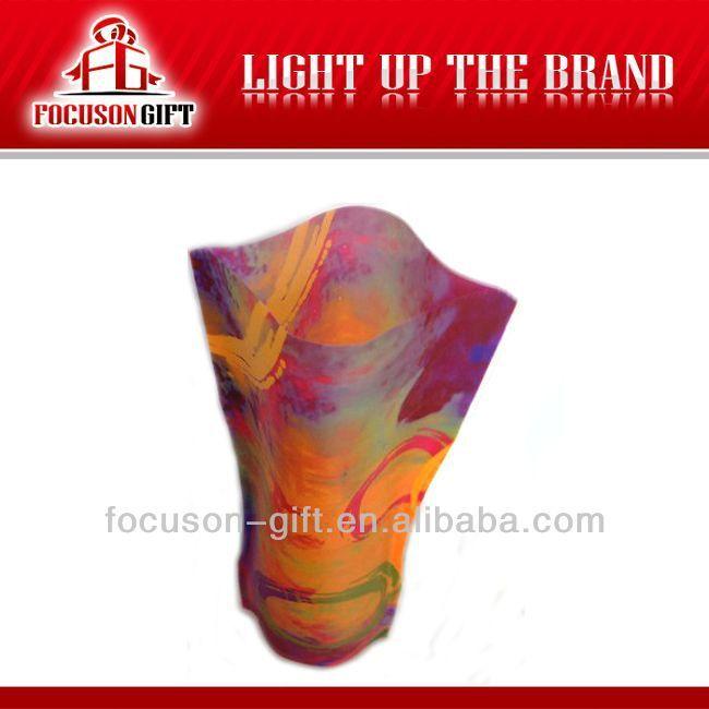 Advertising Custom Logo Printing pvc flexible vase