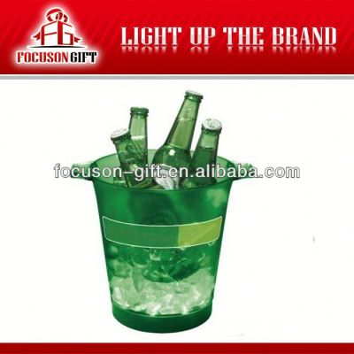 Promotion product plastic led lighted ice bucket
