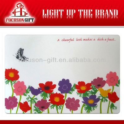 Promotional Full color Printing round paper placemats