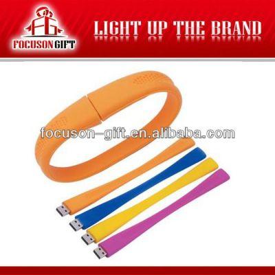 Promotion products PVC usb flash drive wristband