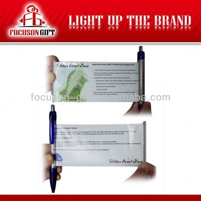 Promotional pen with banner