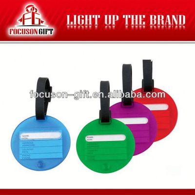 2013 Customized pvc luggage tag