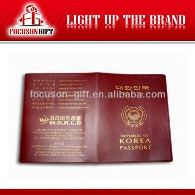 PU leather travel passport cover