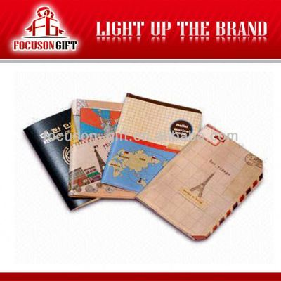 PU leather travel leather passport holder