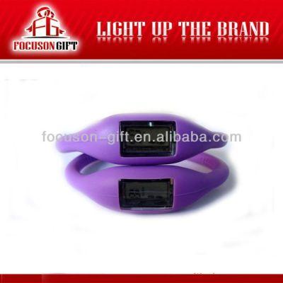 Health Promotional Gift Custom logo silicone bracelet pedometer