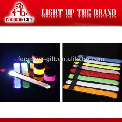 Hot Sale Logo Available Flashing LED light up led armlet