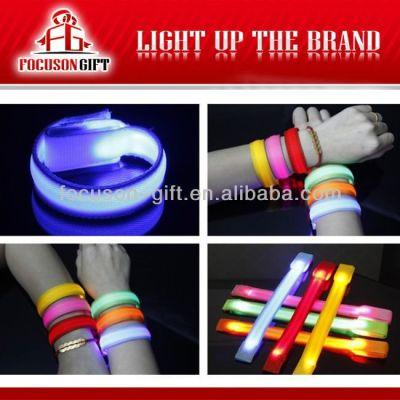 Hot Sale Logo Available Flashing LED glowing led armlet