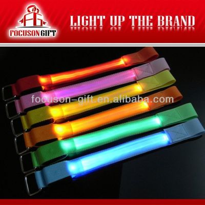 Hot Sale Logo Available Flashing LED armlet