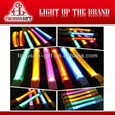 Hot Sale Logo Available Flashing LED sport armband