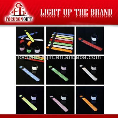 Hot Sale Logo Available Flashing LED cloth armlet