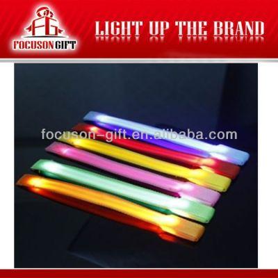 Hot Sale Logo Available Flashing LED led flashing armlet