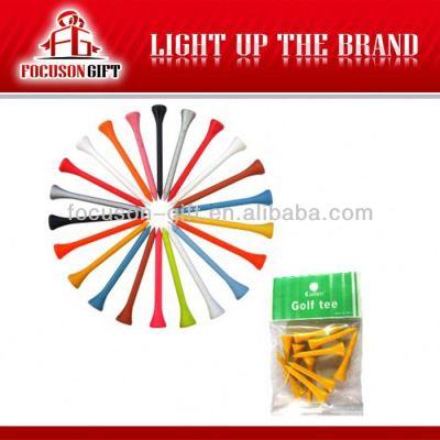 Colorful custom logo plastic golf tee