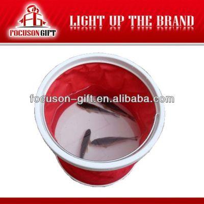Customized logo promotion item folding water bucket