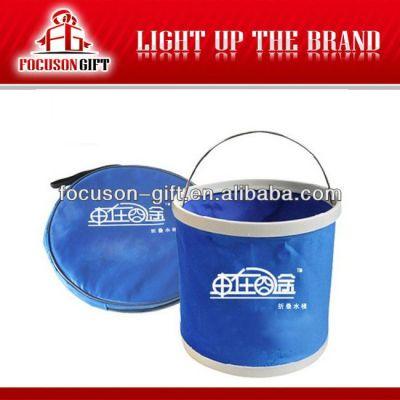 Customized logo promotion item foldable water bucket