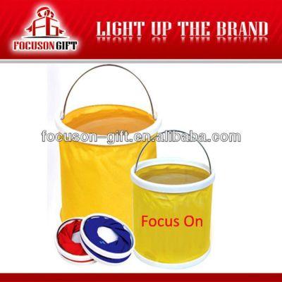 Customized logo promotion item folding bucket