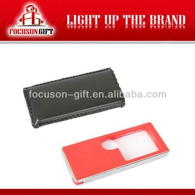 Promotional Item 3X-10X card magnifier with uv lamp
