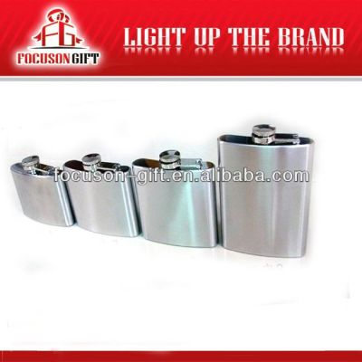 Portable Top Grade Small Capacity stainless steel hip flask gift set