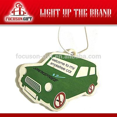 Custom printing paper car air freshener