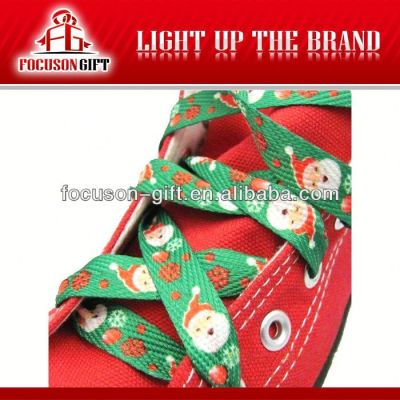 Promotion printed polyester shoelace styles