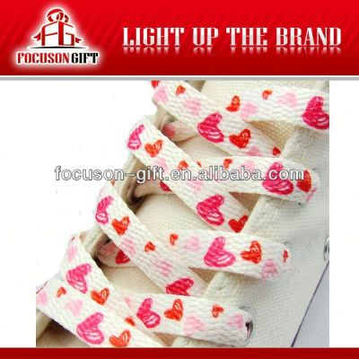 Promotion printed polyester shoelaces wholesale