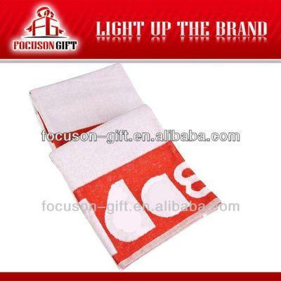 Advertising logo printed cotton beach towels