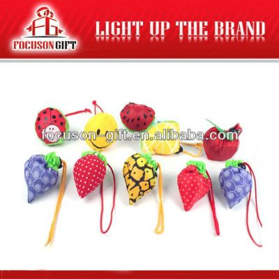 Portable Promotional Logo Printed cute fruits shopping bags