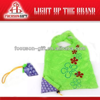 Portable Promotional Logo Printed green color printing bag
