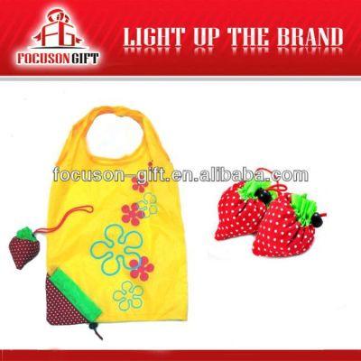 Company Logo Printed Fruit Design strawberry shopping bag