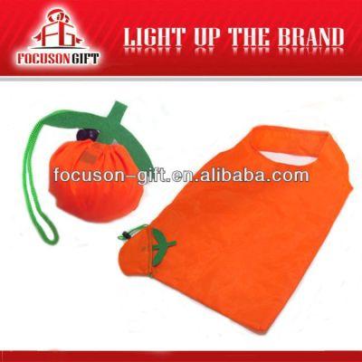 Company Logo Printed Fruit Design orange folding bag