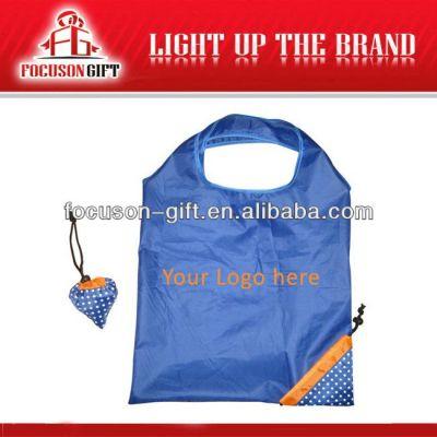 Portable Promotional Logo Printed blue folding bag