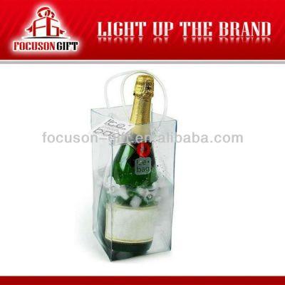 Advertising Company Logo Clear pvc bottle bag