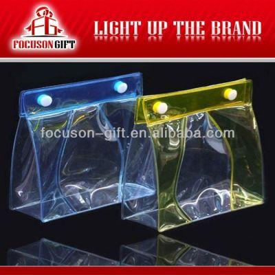 Advertising Company Logo Clear pvc zipper bag