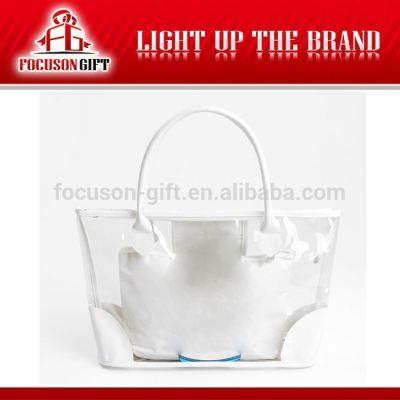 Advertising Company Logo Clear pvc handbag