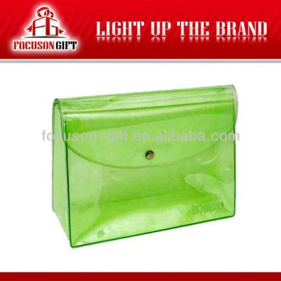 Advertising Company Logo Clear green pvc packaging bags