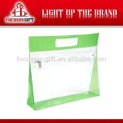 Wholesale transparent clear zipper PVC bags