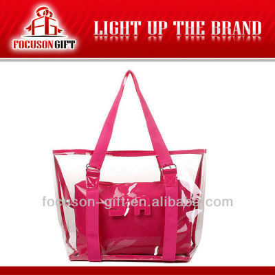 Hot Selling New Fashion pvc promotion beach bags