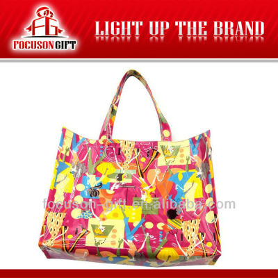 Hot Selling New Fashion flower pvc promotion beach bags
