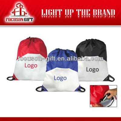 Customized logo branded drawstring gift hessian bag