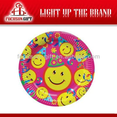 Offset Customized Logo Printing party theme paper plates